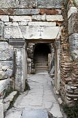 pic of catacombs  - Ancient doorway to Christian catacombs in Ephesus Turkey - JPG