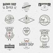 stock photo of barbershop  - Barbershop badges logos and labels for any use - JPG