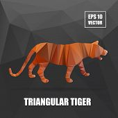 picture of tigers  - Poly design - JPG