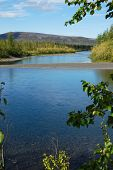 stock photo of taimyr  - The river and its surroundings at the end of the summer - JPG
