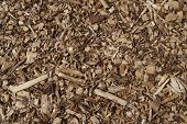 stock photo of wood pieces  - Wood chips pieces  - JPG
