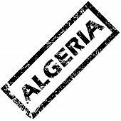 pic of algeria  - Vector rubber stamp with name ALGERIA - JPG