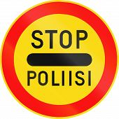 stock photo of police  - Road sign 392 in Finland  - JPG