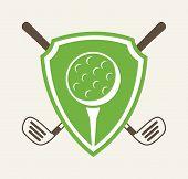 pic of miniature golf  - golf design over white background vector illustration - JPG