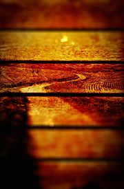 stock photo of long winding road  - Winding road grunge wooden panel texture background - JPG