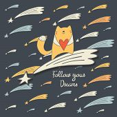 Follow your dreams postcard poster