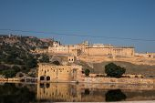 ������, ������: Amber Fort from Maota Lake