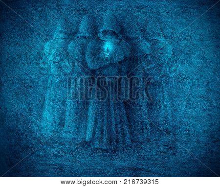five medieval monks