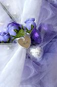 Heart Charm With Lilac Kisses