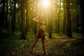 Female Spirit Mythology. She Belongs Tribe Warrior Women. Wilderness Of Virgin Woods. Wild Attractiv poster