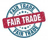 Fair Trade Stamp. Fair Trade Round Grunge Sign. Fair Trade poster