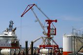 foto of sakhalin  - Processing cargo for oil project on Sakhalin - JPG
