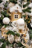 Christmas Decorations On The Christmas Tree. Christmas Tree Decorations And Decorations In The Desig poster