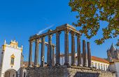 Temple of Diana, the Roman temple of Evora dedicated to the cult of Emperor Augustus, the most famou poster