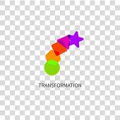 Logo Transform, Icon Change, Growth, Symbol Training, Evolution Business Development Logo Education, poster