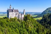Neuschwanstein Castle Near Fussen, Bavaria, Germany. This Royal Castle Is A Famous Landmark Of Germa poster