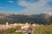 picture of hamlet  - Benifato a small moutain hamlet in Alicante Spain - JPG