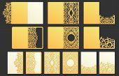 Ornamental Pocket Folder. Decorative Wedding Invitation Folder, Menu Holder And Greeting Envelope Wi poster