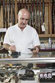 stock photo of gun shop  - Middle - JPG