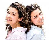 image of bff  - Beautiful twins smiling  - JPG