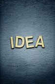 The Word Idea On Textured Background