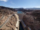 Colorado River And Hoover Dam