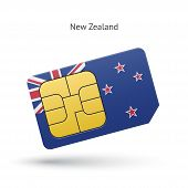 New Zealand mobile phone sim card with flag.