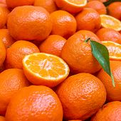 Lot Of Mandarin Orange/mandarins, Selective Focus