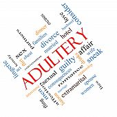 picture of adultery  - Adultery Word Cloud Concept angled with great terms such as sexual affair lies and more - JPG