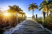 pic of key  - way to the beach in Key West Miami Floride USA - JPG