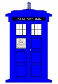 image of bobbies  - A typical british police box isolated over a white background - JPG