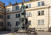 Photo Of The Historical Statue Of Karel Charles Iv