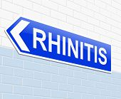 picture of rhinitis  - Illustration depicting a sign with a Rhinitis concept - JPG