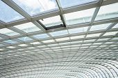 foto of roof-light  - interior of office building with metal and glass roof - JPG