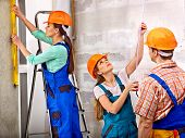 picture of millwright  - Happy group people in builder uniform indoor - JPG