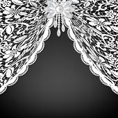 picture of lace-curtain  - Template for wedding - JPG
