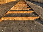 stock photo of hatshepsut  - Ladders and access ramp to the first terrace of the Hatshepsut Temple at Deir el - JPG