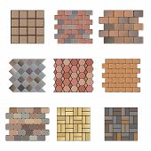 stock photo of paving stone  - Detailed landscape design elements - JPG