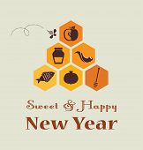 picture of bee cartoon  - Greeting card for Jewish New Year - JPG