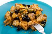 foto of swordfish  - a swordfish stew with caper and olives - JPG