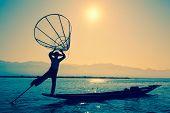 stock photo of fishermen  - Myanmar travel attraction landmark  - JPG