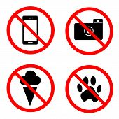 stock photo of banned  - the illustration with bans in public places - JPG
