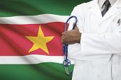 stock photo of suriname  - Concept of national healthcare system  - JPG