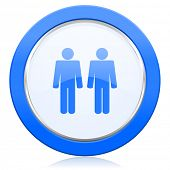 foto of gay symbol  - couple icon people sign team symbol  - JPG