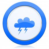 picture of barometer  - storm icon waether forecast sign  - JPG