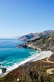 stock photo of pch  - This is an image of the Big Sur coast line - JPG