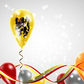 stock photo of balloon  - Flag of Flanders on balloon - JPG
