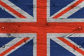 stock photo of bolt  - United Kingdom of Great Britain Union Jack national flag - JPG