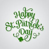 stock photo of saint patrick  - Vector illustration Typographic Saint Patrick - JPG