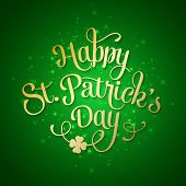 picture of saint patrick  - Vector illustration Typographic Saint Patrick - JPG